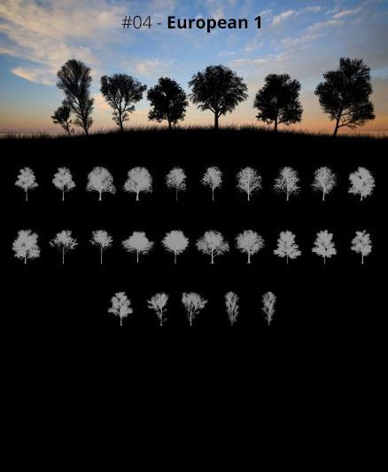 Tree Silhouettes vol.4 - European 1 by Horhew