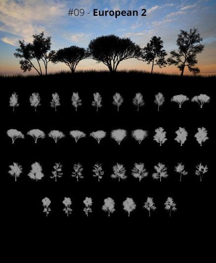 Tree Silhouettes vol.9 - European 2 by Horhew