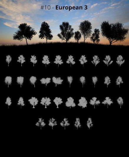 Tree Silhouettes vol.10 - European 3 by Horhew
