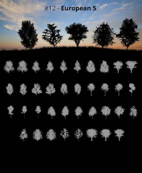Tree Silhouettes vol.12 - European 5