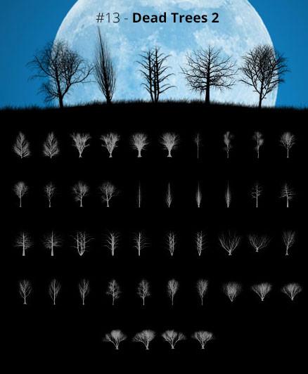 Tree Silhouettes vol.13 - Dead Trees 2 by Horhew