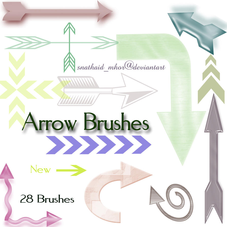Arrow Brushes by snathaid-mhor