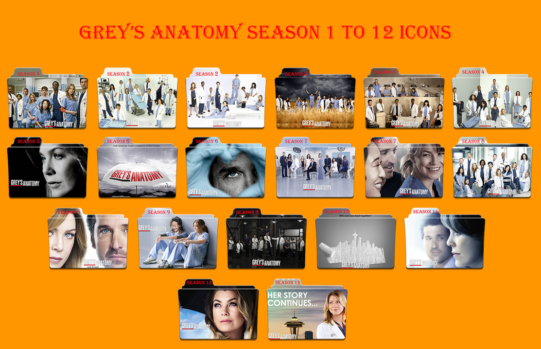 Greys Anatomy Seasons 1 to 12 icons by Aliciax16 on DeviantArt