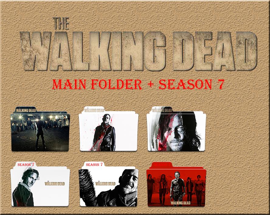 The Walking Dead Main Folder Season 7 Icons By Aliciax16