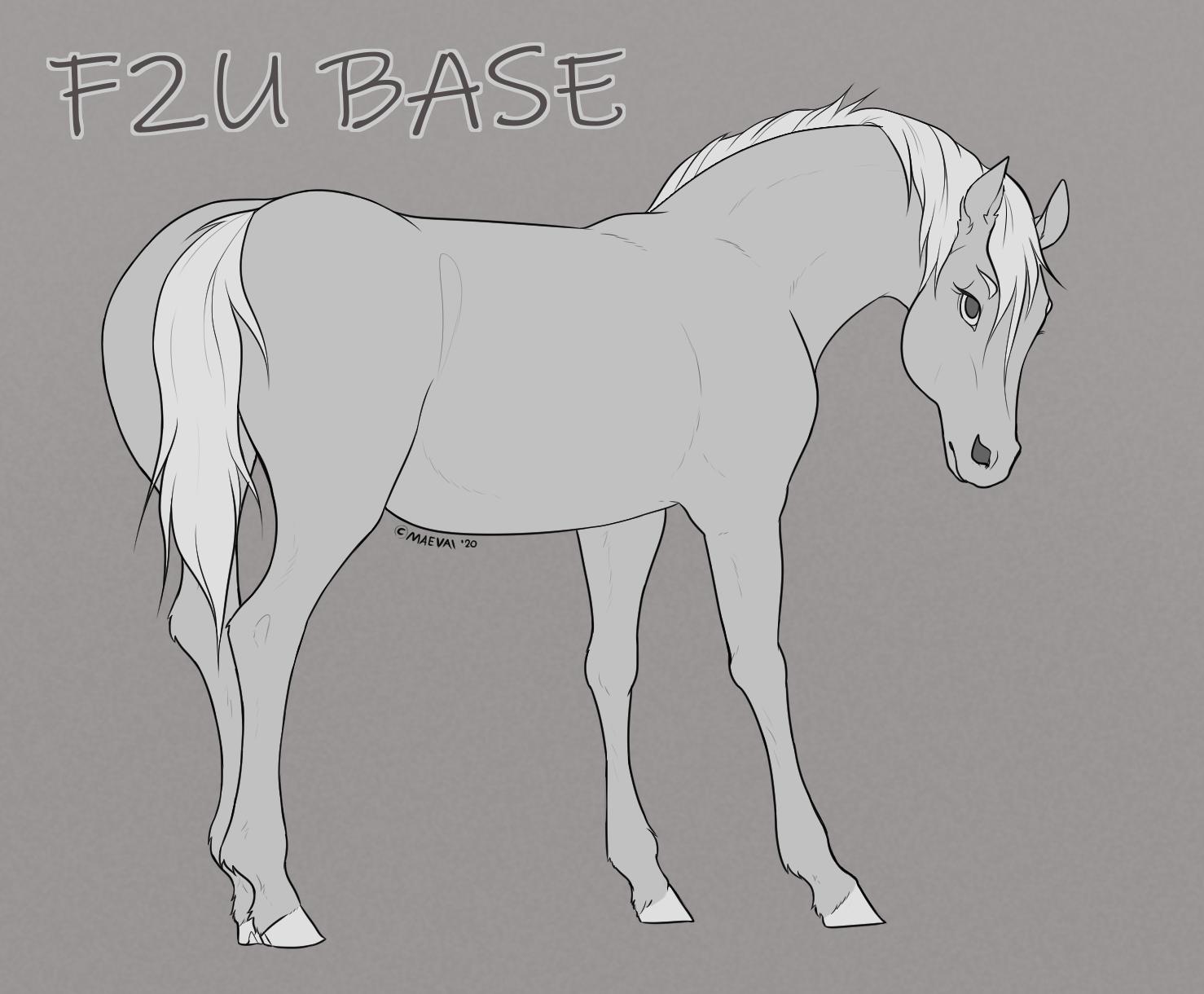 F2u Horse Base By Maevaii On Deviantart