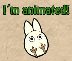 Totoro bounce -animation- by Loihtuja