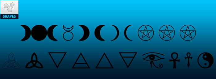 FREE | Wiccan and Positive Photoshop Custom Shapes
