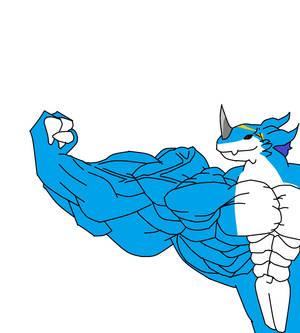 Exveemon Muscle Flex (SLOWER)