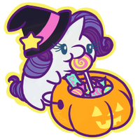 Rarity's Halloween Candy by Anzicorn