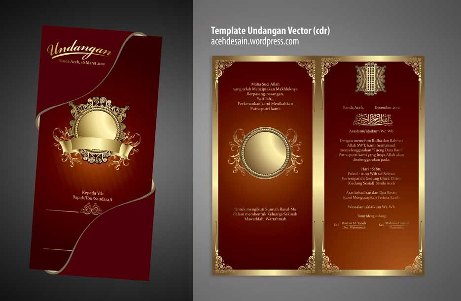 download template undangan nikah v3 cdr gratis