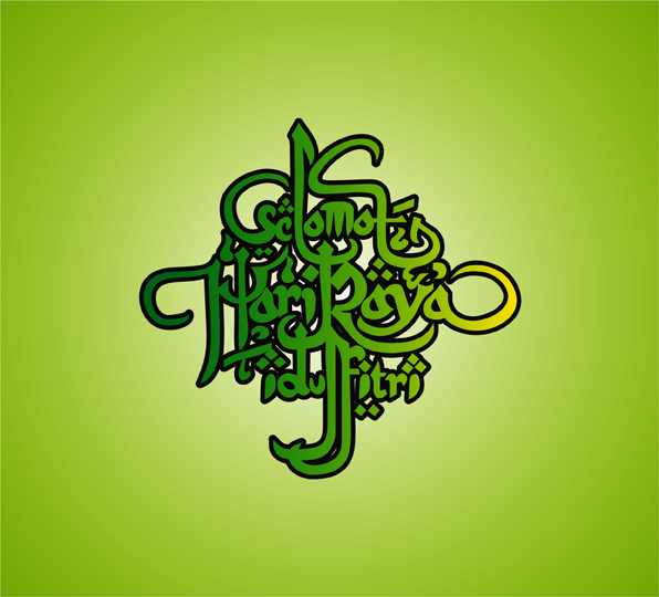 Free Download: 5 Seni Tulisan Salam Ramadhan Dan Idulfitri