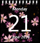 Flower Calendar win7
