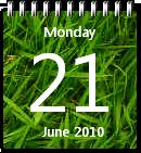 Grass Calendar by JoshyCarter