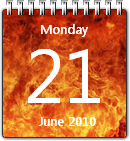 Flame Calendar win7 by JoshyCarter