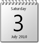 White Calendar win7 by JoshyCarter