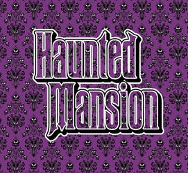 Haunted Mansion Wallpaper pattern IllustratorCC by pat-mcmichael