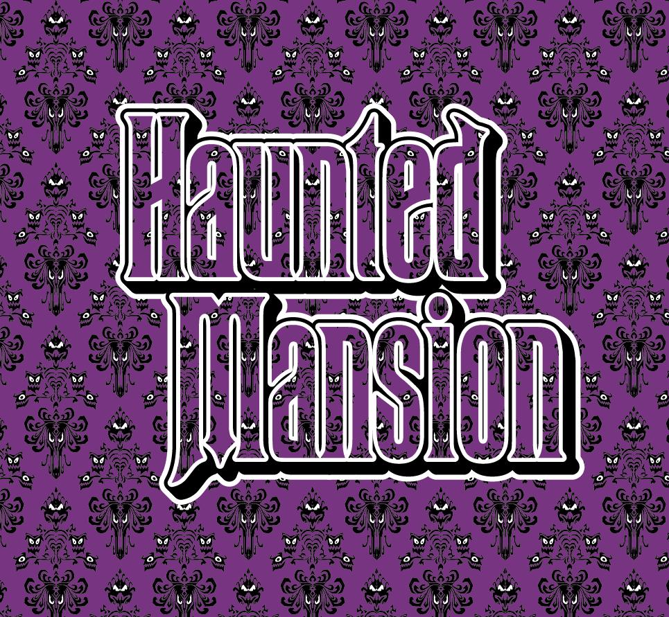 Haunted Mansion Wallpaper pattern IllustratorCC by pat-mcmichael
