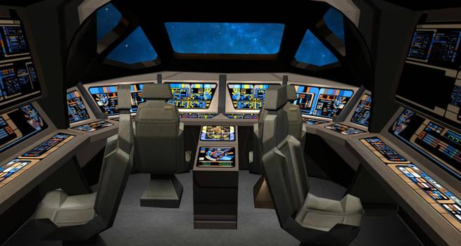 Type11 Shuttle Cockpit 3d obj Model