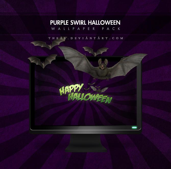 A Purple Swirl Halloween by TheAL