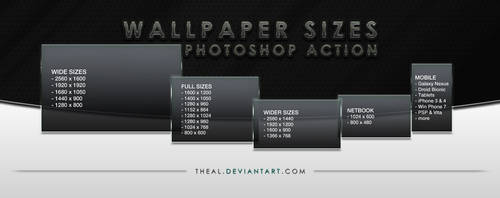 Wallpaper Sizes Photoshop Action