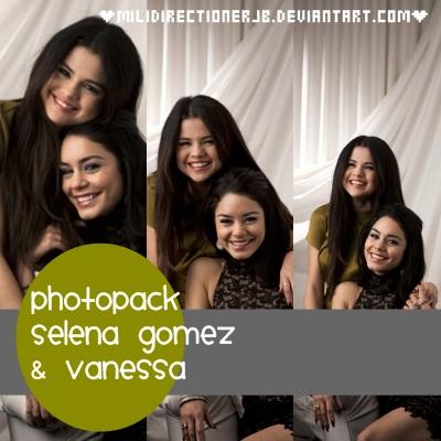 Selena Gomez y Vanessa Photopack by MiliDirectionerJB
