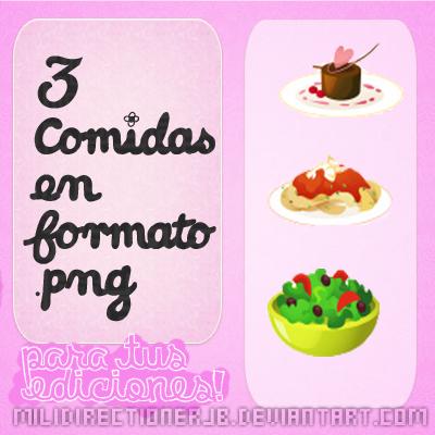 Pack De 3 Comidas PNG by MiliDirectionerJB