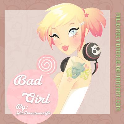 Badgirl png by MiliDirectionerJB