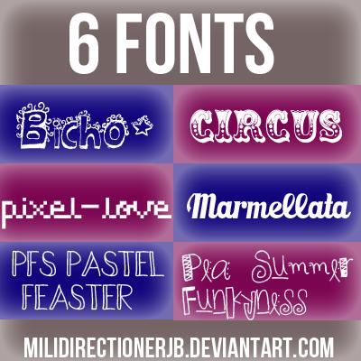Pack De Fonts by MiliDirectionerJB