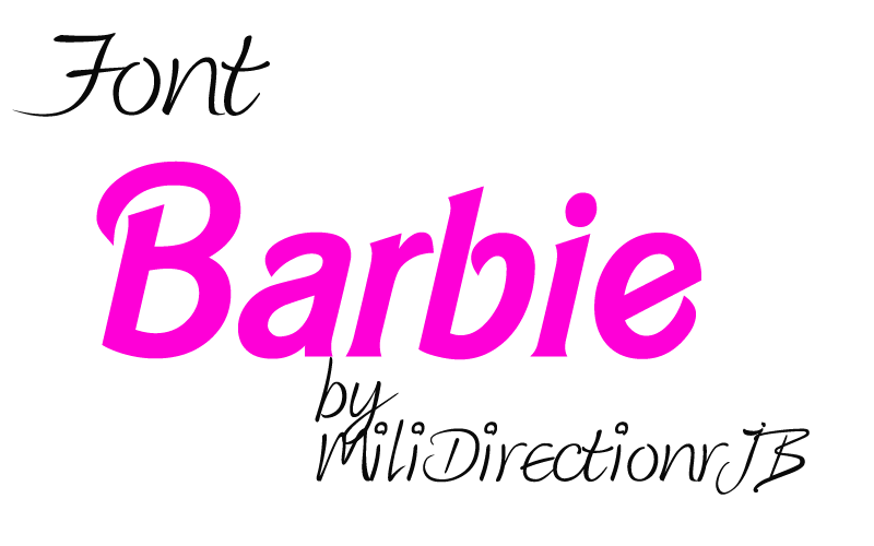 Font Barbie by MiliDirectionerJB
