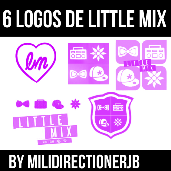 Little Mix Logos Brushes by MiliDirectionerJB