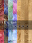 Free 8 hand-dyed paper textures