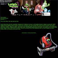 Luigi's Mansion: Dark Moon Journal Skin by LunaliaArts