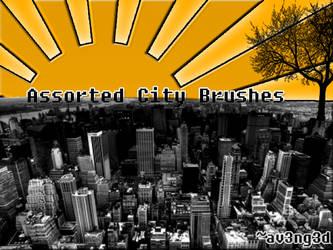 Assorted City Brushes by aV3nG3d