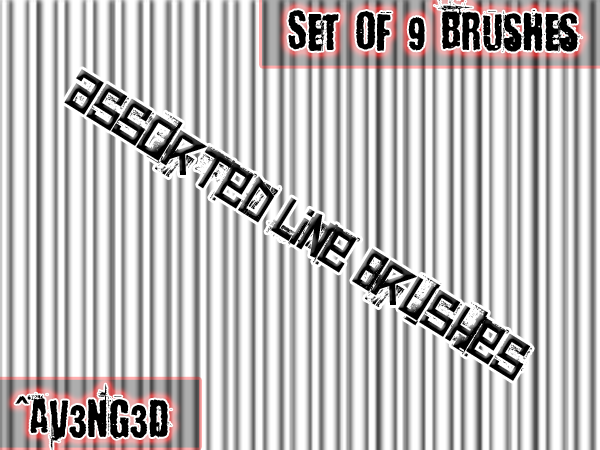 Assorted Line Brushes