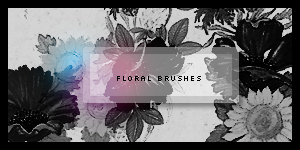 Floral brushes by eeteuktim
