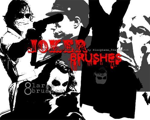 Joker Brush Set by Blaspheme-the-Chruch