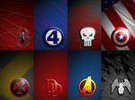 Marvel Logos Wallpaper Pack