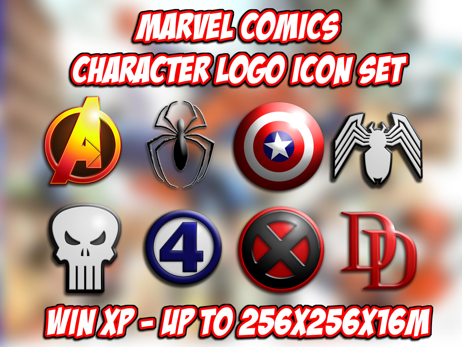Marvel Comics Logo Icons by BadlyDrawnDuck