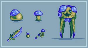Terraria mushroom stuff