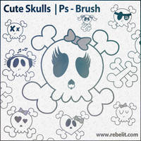 Cute Skulls by alinema
