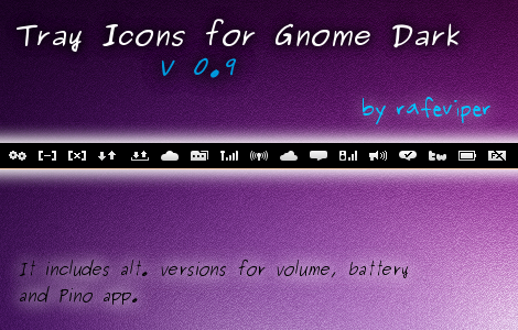Tray Icons for Gnome Dark by rafeviper