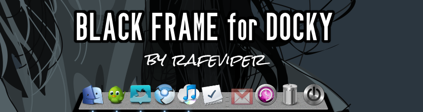 Black Frame for Docky by rafeviper