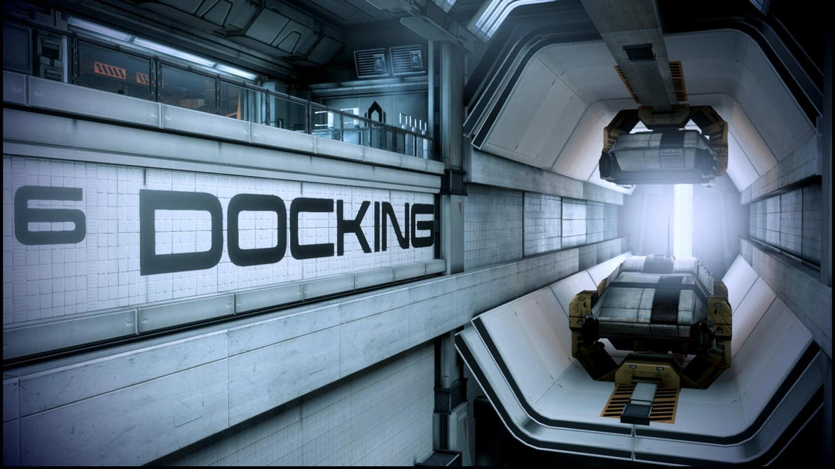 Mass Effect 3 Docking Bay Dreamscene by droot1986