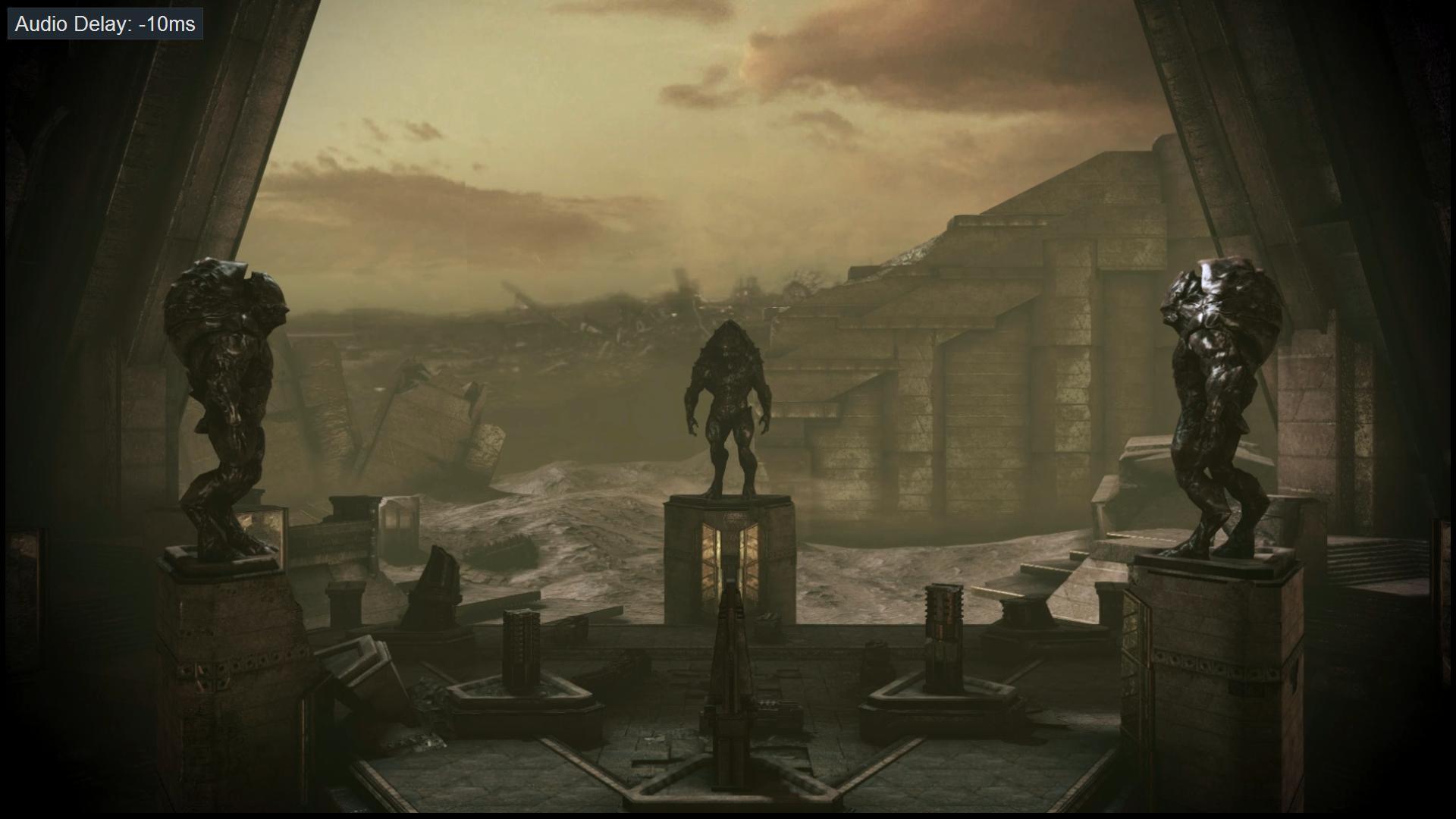 Mass Effect 3 Tuchanka Statues Dreamscene by droot1986