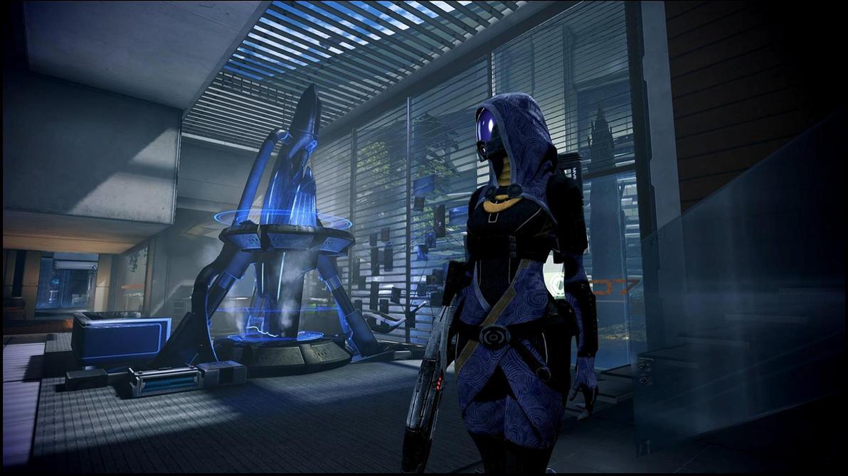 Mass Effect 3 Tali in Bryson's Office  Dreamscene by droot1986