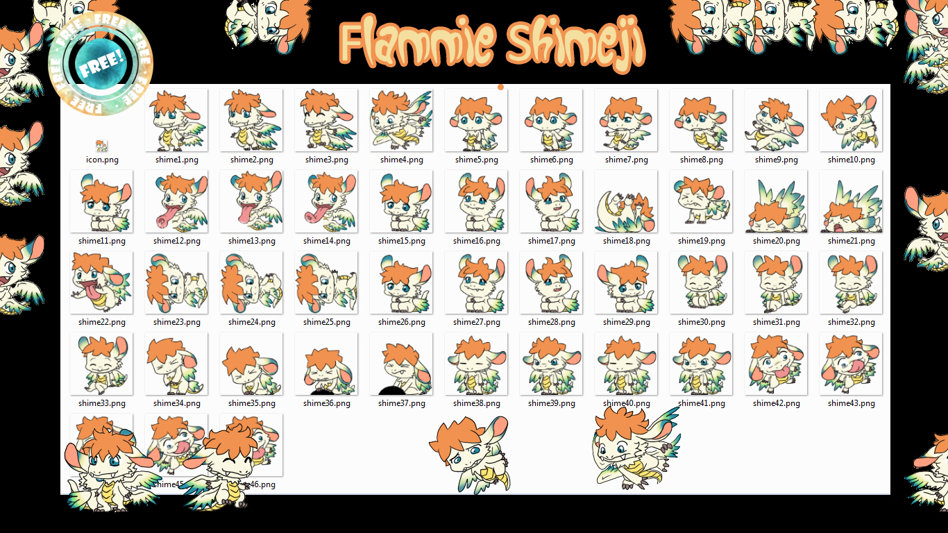 Flammie Shimeji +FREE+
