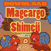 Magcargo Shimeji [D/L] [+shiny] [+blue shiny] by Cachomon