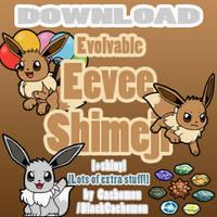 Evolvable Eevee Shimeji [D/L] [+shiny] by Cachomon