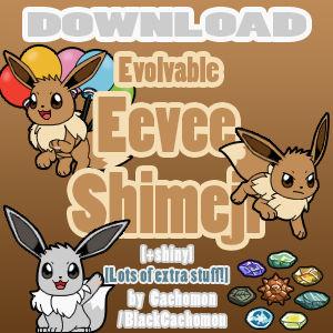 Evolvable Eevee Shimeji [D/L] [+shiny]