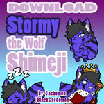 Stormy the Wolf Shimeji [D/L] by Cachomon